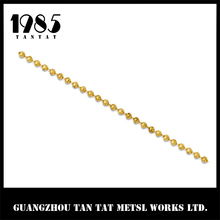 Hot Sale New Style Fashion Raw Color 3.2mm Brass Jewelry Ball Chain