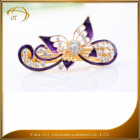 Luxury fashion printing korean hair claw clip wholesale ladies hair accessory