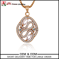 JN2021 Fashion design customized gold plated pave setting vietnam jewelry wholesale necklace
