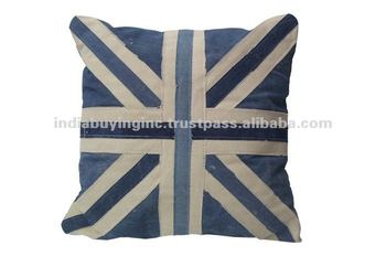 union jack design cushion