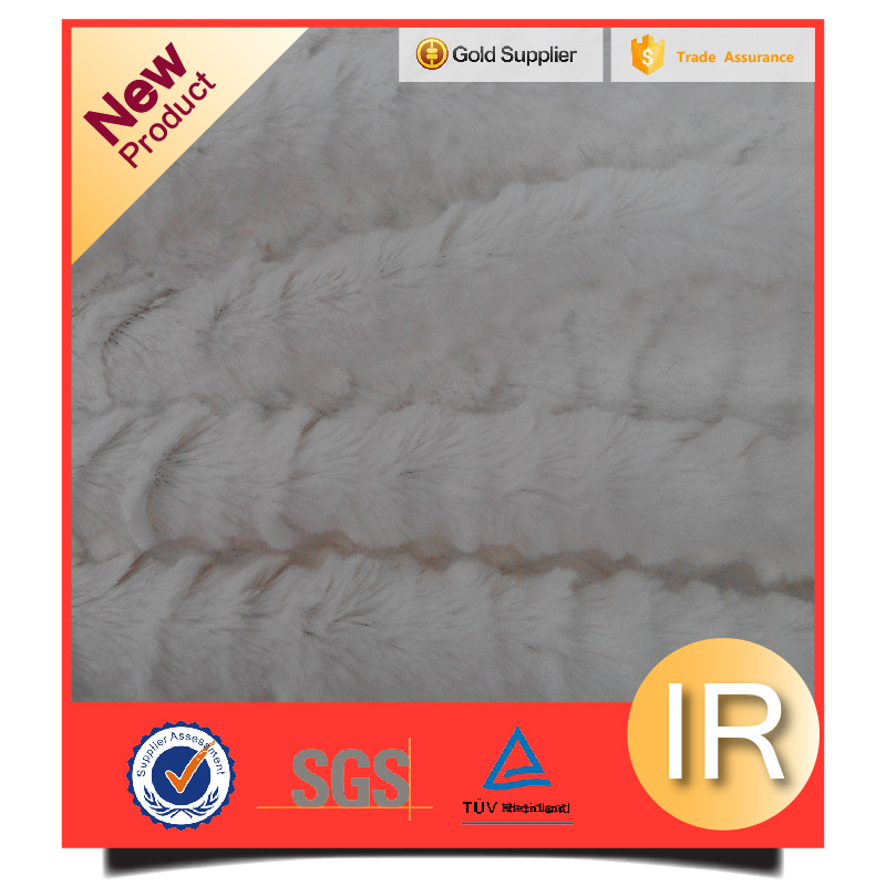 100% polyester embossed pressed pv plush fabric with wrinkle pattern