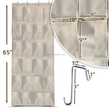 Over The Door Shoe Rack Closet Organizer with 24 Exta Large Pockets