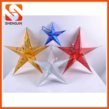 Christmas Decoration Paper Stars Colorful paper Hanging Folding party decoration star