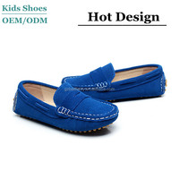 2016 New Kid Suede Casual Lace Slip On Loafer Shoes Moccasins Driving Shoes