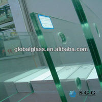 Highest quality tempered construction glass 10mm thick