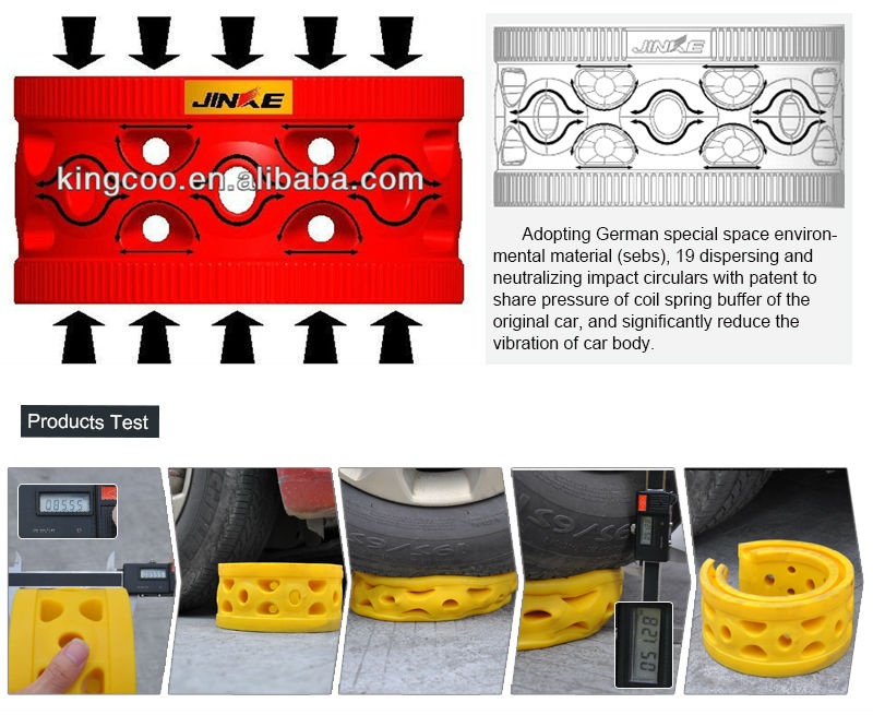 Cushion buffer to protect car suspension system rubber spring damper