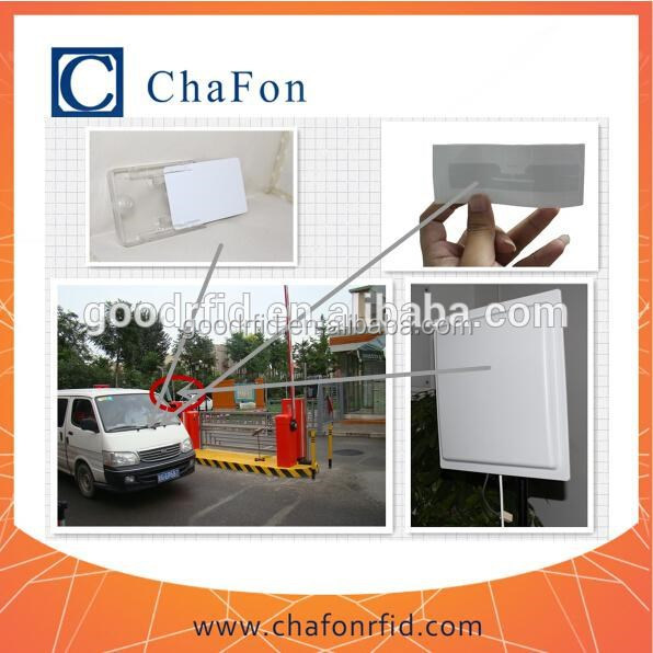barrier gate automatic for parking system use RFID uhf long distance integrated reader/tags