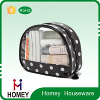 Factory Price Printing Round Mini PVC cosmetic bag
