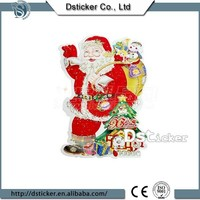 New Design Colorful Cute Christmas Santa Decorative Customized Free Cartoon Sticker