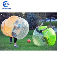 2018 High quality PVC/TPU clear giant body inflatable buddy bumper human bubble soccer ball for adult