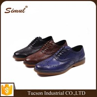 Italy design leather shoe for men