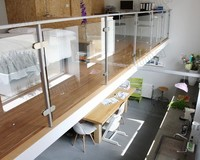 popular design plexiglass tinted glass deck railing