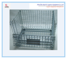Free Samples Hot Sale Collapsible Plated Zinc Rolling Metal Wire Mesh Container