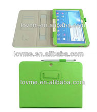 Strap stand wallet leather case with card slots hand holder for samsung galaxy tab 3 10.1 inch p5200