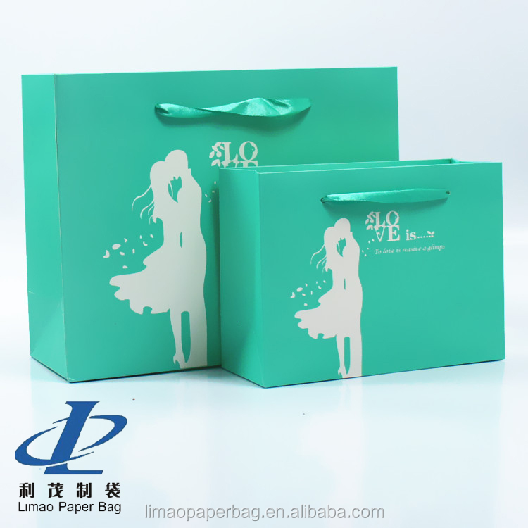 New fashion decorative gift paper bags/ custom logo paper bag printing