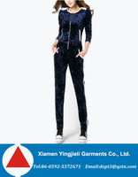 Ladies Womens Sports Sexy Plus Size Velour Tracksuits Wholesale