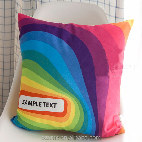 abstract colorful art design decor art printed throw pillow , rainbow pillow