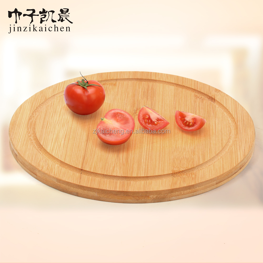 Kitchware Eco-friendly Health Round Pizza Cutting Boards/Pizza Cutter Wood