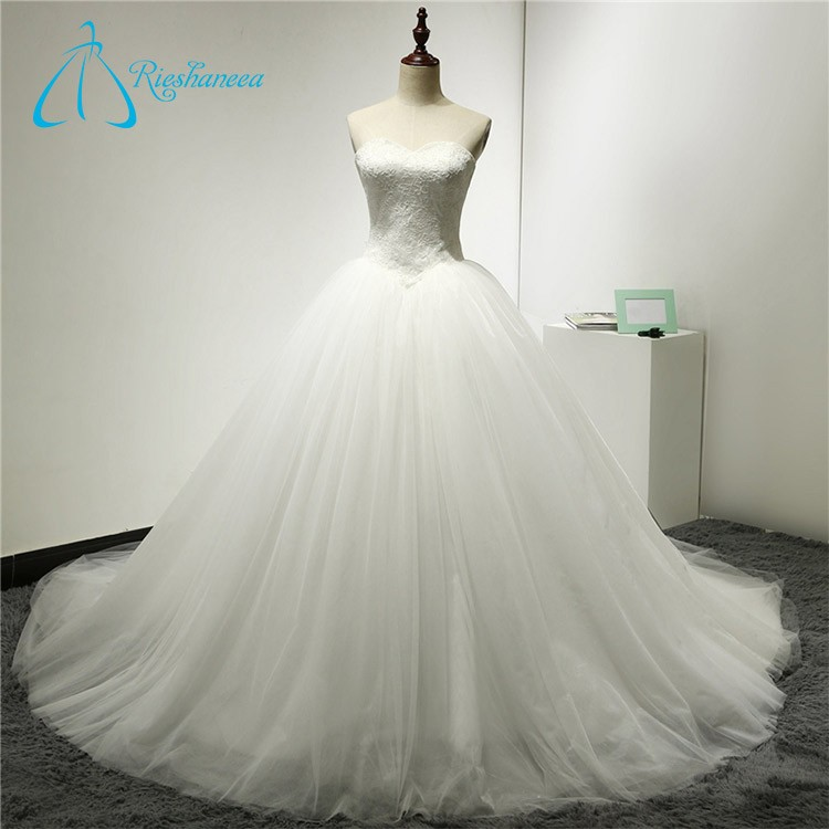 Ball Gown Lace Up Appliques Plus Size Real Pictures Of Wedding Dress Real