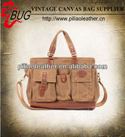 BUG 2013 new vintage canvas tote bag/ handbag manufacture factory in Guangzhou