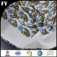 China Hangzhou Factory Digital Textile Printing Custom Cotton Fabric Snake Print Available