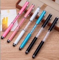 metal crystal ball pen multifunction pen 4 in 1 pen with writing LED light laser light stylus touch for phone
