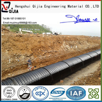 culvert under roads Arch corrugated galvanized culvert corrugated steel plate section waterdrainage pipe for irrigation supply