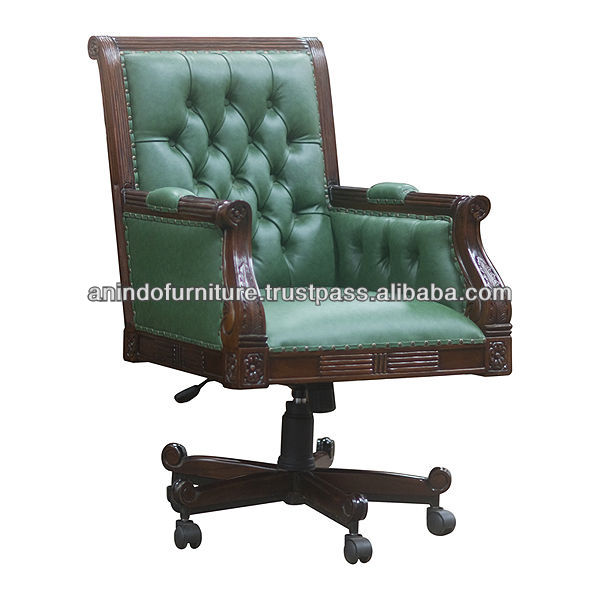 Mahogany Jiaxing Director Desk Chair