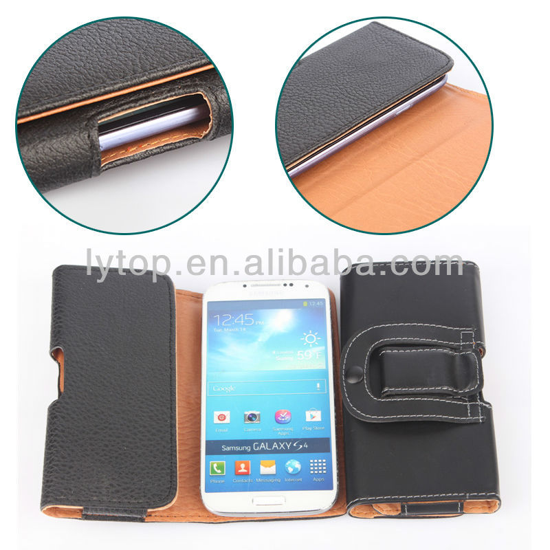 High Quality Pouch Leather Case for Samsung Galaxy S4 i9500 Wallet Leather Mobile Cases Accessories