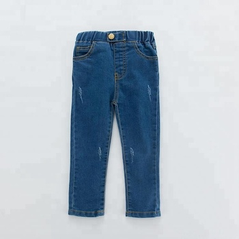 Kids Tight Trousers Baby Boys Girls Jeans Pants
