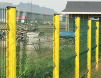 welded wire mesh fence panels in 6 gauge with galvanized and powder coated