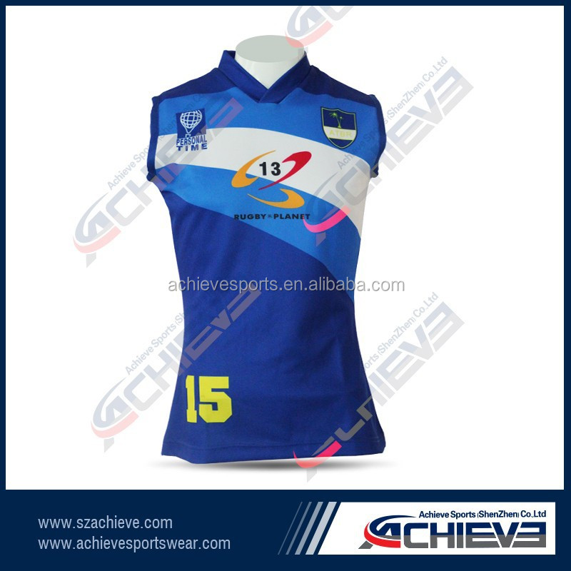 custom hot selling rugby sets for women men factory wholesale polyester rugby jersey with cheap price
