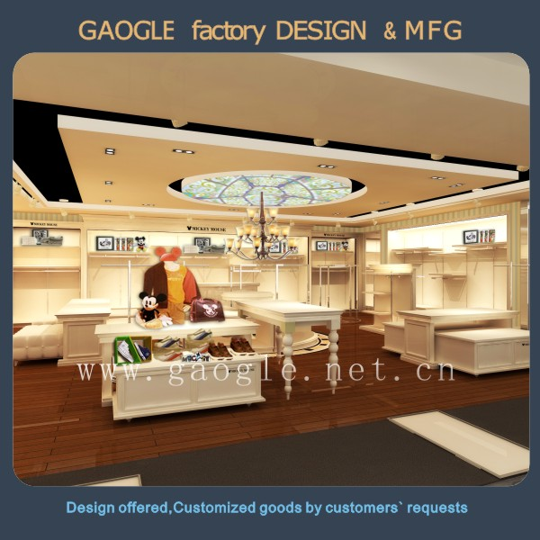 Customized modern fittings clothing stores decoration mobile phone shop interior design