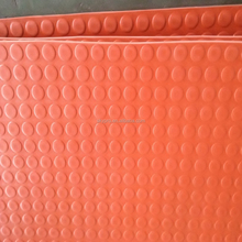 1 inch Thick Orange Waterproof Coin Stud Durable Non-slip EPDM Rubber Sheet Disc Surface Round Button Flooring Mat