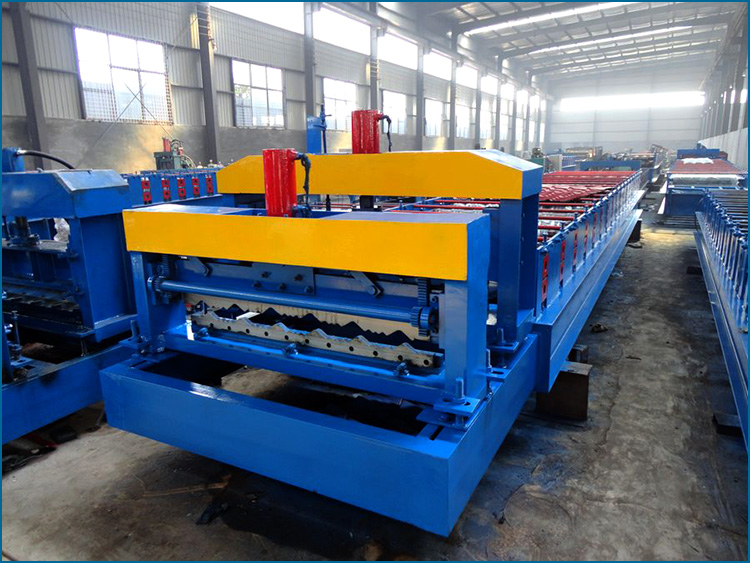 Hebei Xinnuo 960 Glazed Roofing Tile edge roll form machine