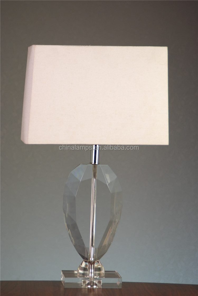 Australia Style Pink Crystal Table Lamp With Empire Lampshade For .