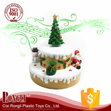 2017 Hot Sale Christmas Promotion Gift Christmas Tree Santa Music Box