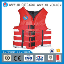 High visibility colorful water park swimming foam life jacket for swimming sport