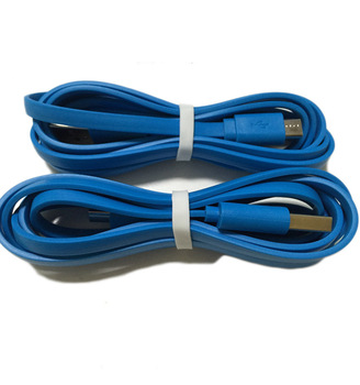 Custom Wrapping 1.5 M 24AWG Blue Flat USB Type A Android Cable