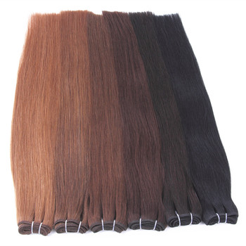 grade 8A 100% russian double drawn hair weft extensions