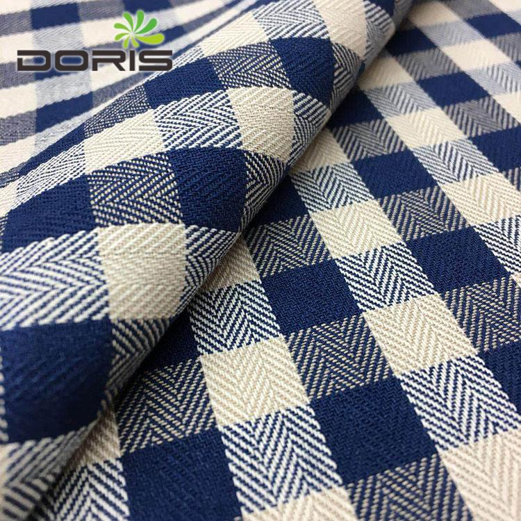 Herringbone pattern plaid yarn dyed women's shirting flannel fabric 100 <strong>cotton</strong>
