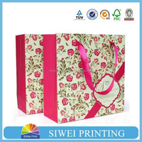 2015 Luxury Design hot-stamping waxed paper gift bags and boxes shopping for coffee