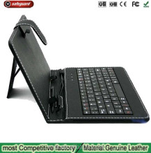 7 inch tablet Keyboard case Common Genuine Leather Wired Keyboard Holster for 7inch Tablet PC