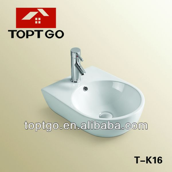 2014 Washroom Ceramic Wall Hung Wash Hand Basin T-<strong>K16</strong>