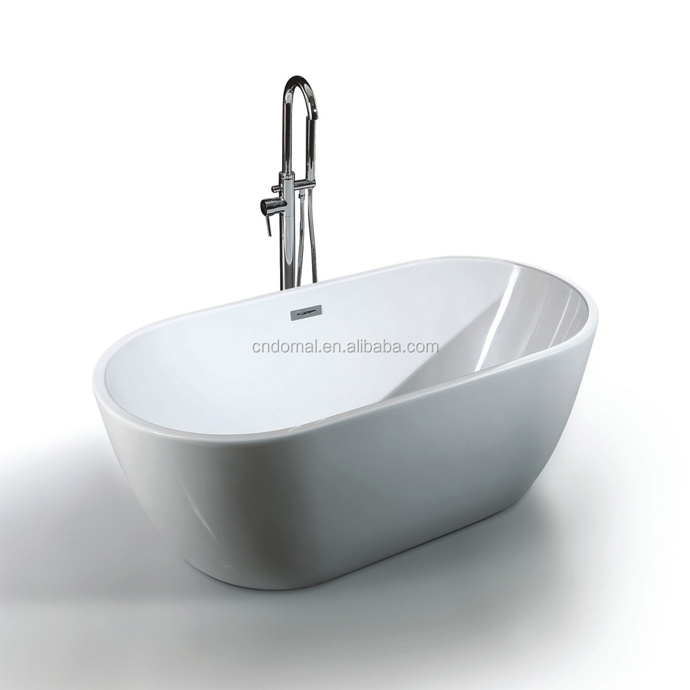 China Manufacturer 2016 High Quality acrylic bathtub DM902 Wholesale European style white acrylic oval bath tub
