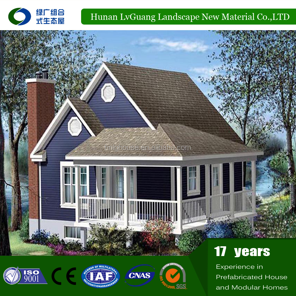 2017 hot sales energy saving prefabricated wooden house