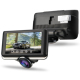 360 Degree Panoramic Dual Record 4.5 Inch IPS Touch Screen Dash Cam Parking Monitor Driving Recorder Car DVR