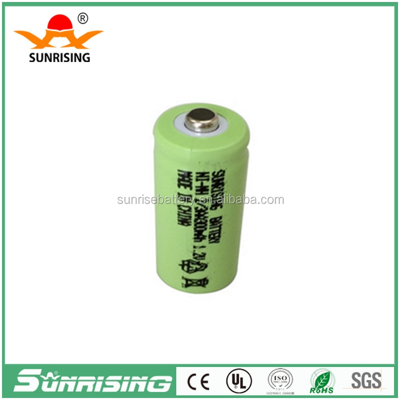 Sunrising 2/3aa rechargeable nimh battery 2/3AA300mah used for solar light Flat type /1.2V Cell