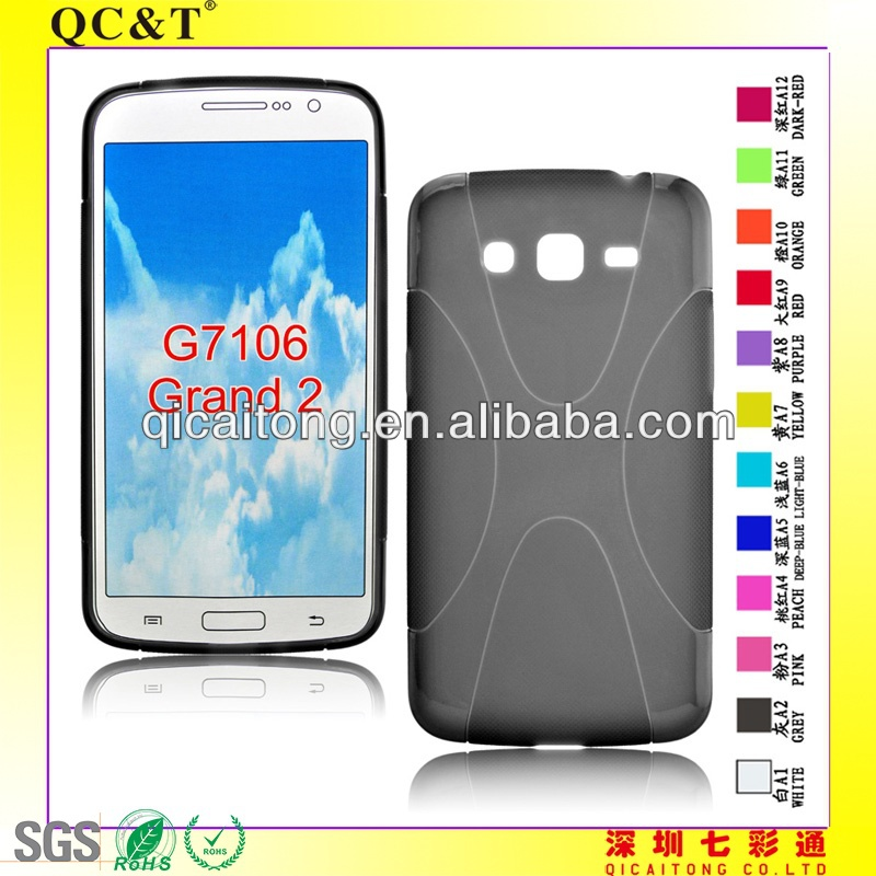 X style tpu case for samsung g7106 grand 2