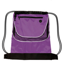Promotion Customized Gym Backpack Sport Football Mesh Drawstring Bag With Zipper